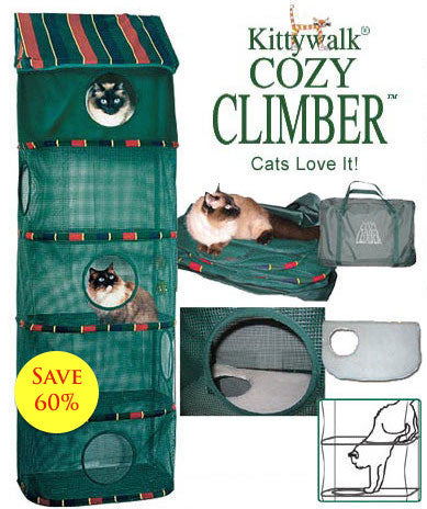 KITTYWALK CAT CLIMBER INDOOR GREEN