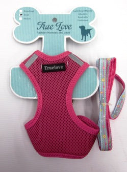 PINK MEDIUM MESH HARNESS & LEAD SET