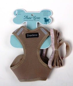 TAN SMALL MESH HARNESS & LEAD SET