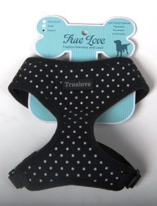 BLACK XLARGE POLKA DOTS D-ring HARNESS