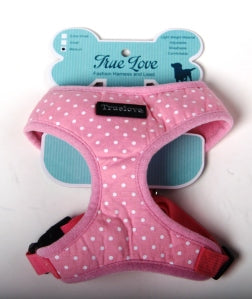 PINK MEDIUM  POLKA DOTS D-ring HARNESS