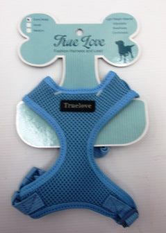 BLUE  MEDIUM TERYLENE MESH D-ring HARNESS