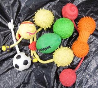 DOG TOY LATEX LARGE SQUEAKY TOY ASSORTED (30/CTN)