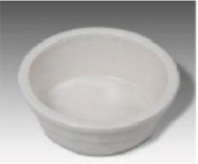BOWL PLASTIC HEAVY CROCK  SMALL
