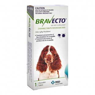 BRAVECTO CHEWS FOR MEDIUM DOGS GREEN (1 PACK)