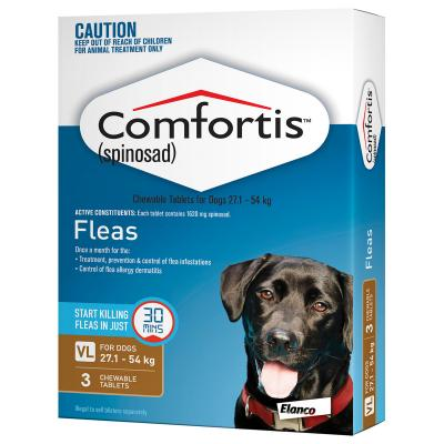 COMFORTIS BROWN FOR EXTRA LARGE DOGS 27.1 - 54.0KG (3 PACK)