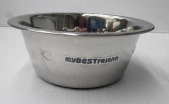 BOWL STAINLESS STEEL EMBOSSED W/ANTI SKID 1.0QT