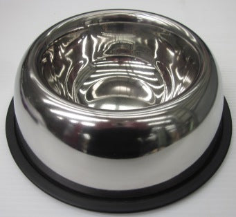 BOWL STAINLESS STEEL BELLY NON SKID 12oz