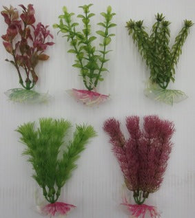 PLANTS PLASTIC  ASSORTED 12 - 15CM