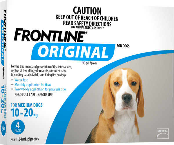 FRONTLINE ORIGINAL BLUE FOR MEDIUM DOGS 10 - 20KG (4 PACK)