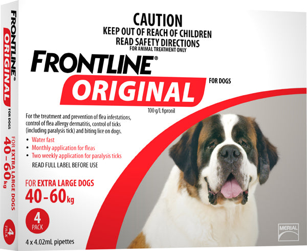 FRONTLINE ORIGINAL RED FOR X-LARGE DOGS 40 - 60KG (4 PACK)