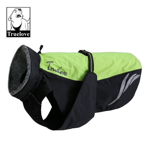 DOG COAT REFLECTIVE GREEN 36cm