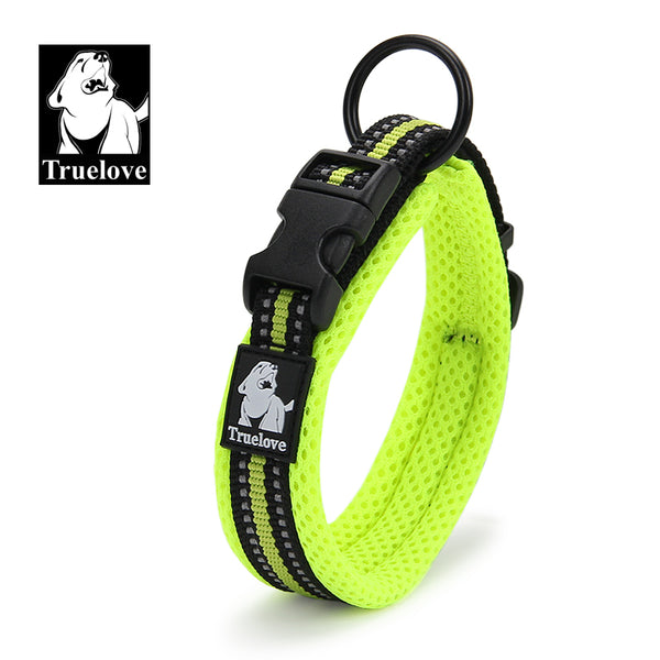 COLLAR PADDED REFLECTIVE FLURO GREEN SMALL