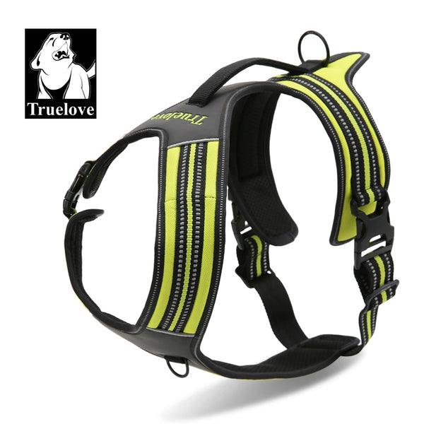 HEAVY DUTY MESH REFLECTIVE HARNESS FLURO GREEN LARGE