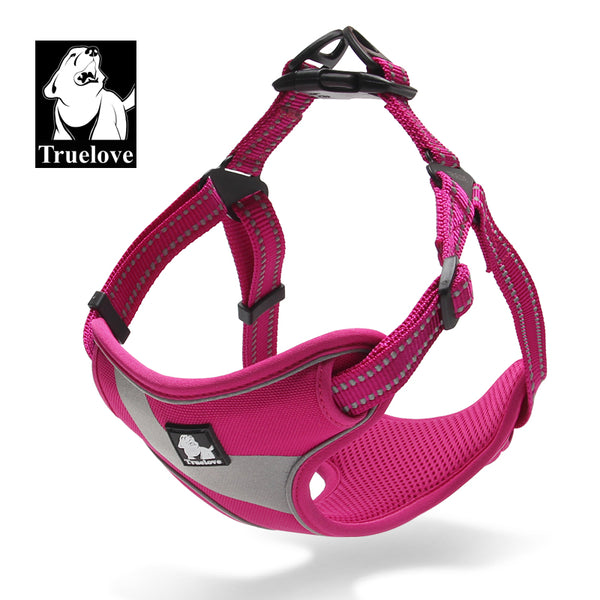 SLIM FIT HARNESS WITH REFLECTIVE FRONT PINK LARGE