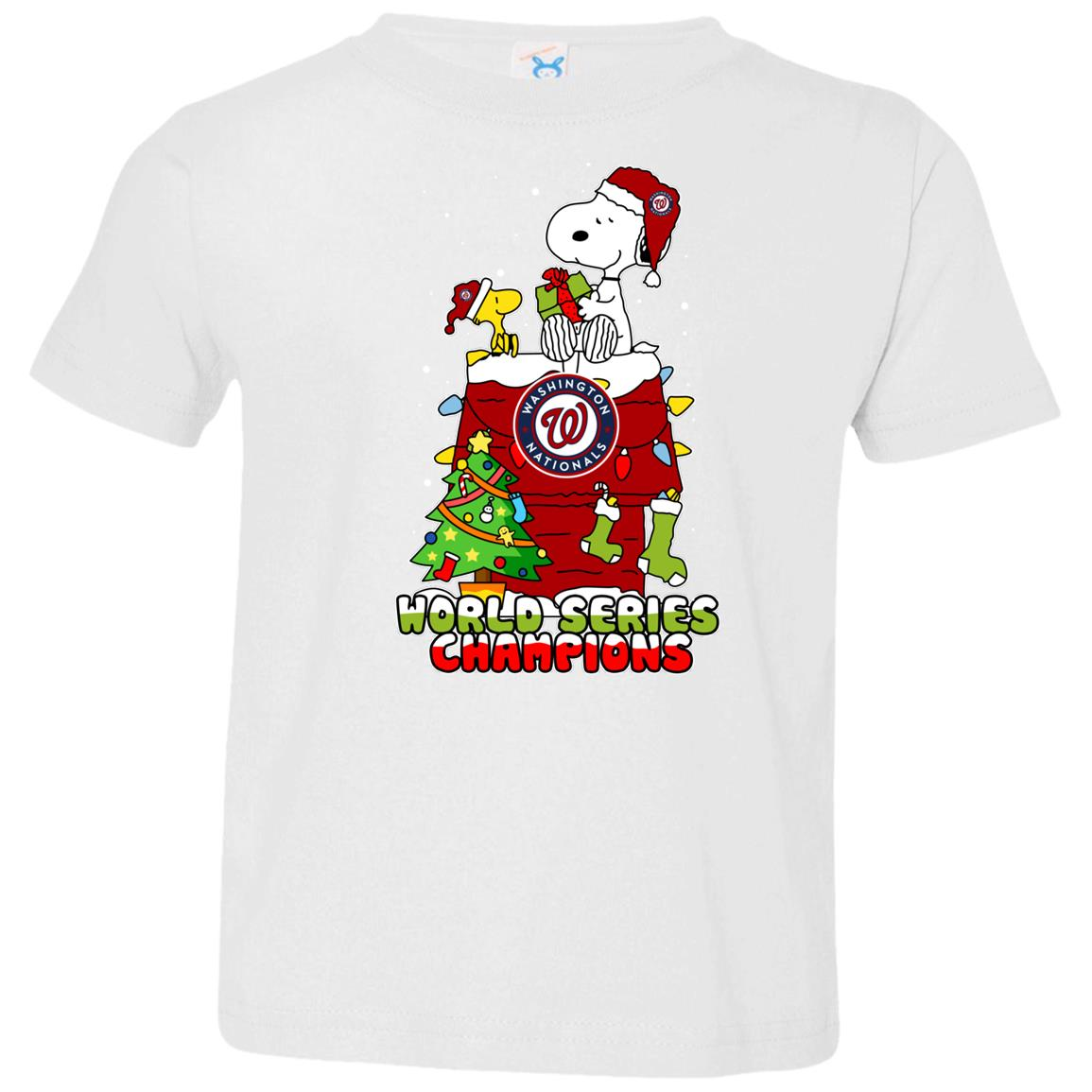 Washington Nationals Snoopy Ugly Christmas Sweaters Shirts For Kids