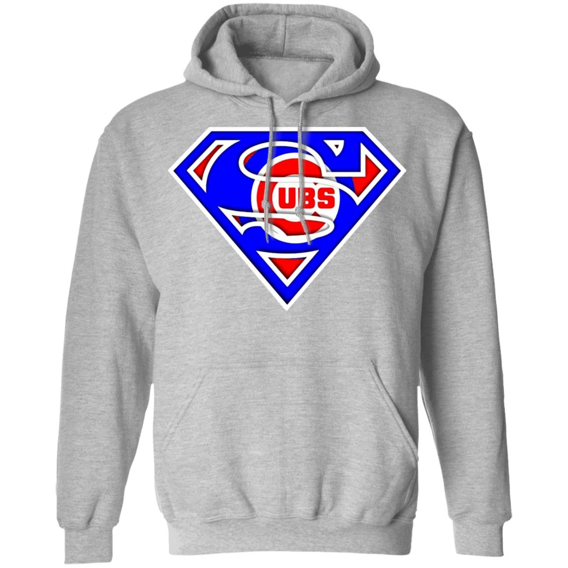 Superman Styles Cubs Collection Designs T-shirt G185 Pullover Hoodie 8 oz.