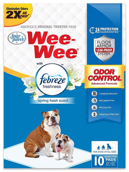 Wee Wee Potty Pads for Dogs of All Sizes Fabreze Freshness