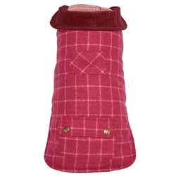Dog Coat Pink Tweed for City or Country