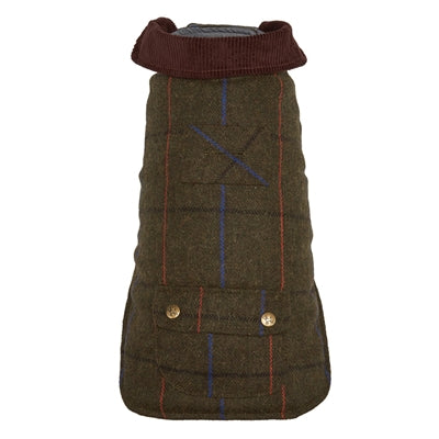 Dog Coat Green Tweed in City or Country