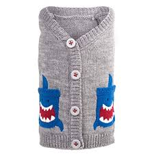 Dog Sweater Shark Nautical Cardigan