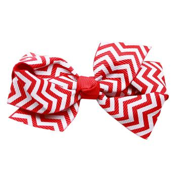 Dog Hair Bow Red White