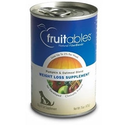 Fruitables Pumpkin & Oatmeal Weight Loss Supplement Can Dog Food