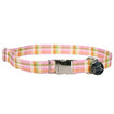 Dog Collar Southern Pink Plaid X-Small