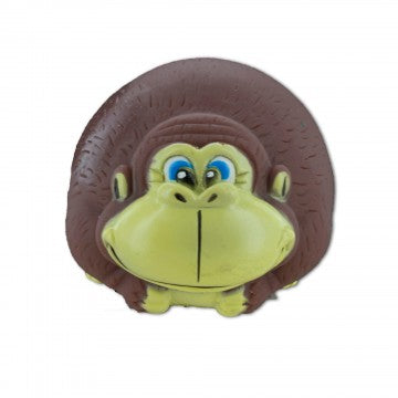 Dog Toy Monkey Squeaker Brown