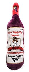 Dog Toy Plush Cavalier Sauvignon Wine Bottle by Haute Diggity Dog