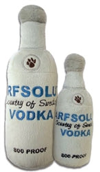 Dog Toy Plush Arfsolut Vodka Bottle by Haute Diggity Dog
