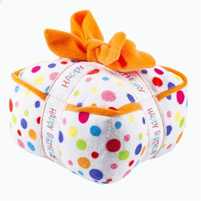 Dog Toy Happy Birthday Plush Gift Box by Haute Diggity Dog