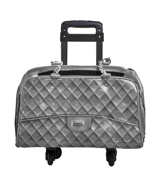 Luxury Dog Carrier Grey Airline Approved Wheels