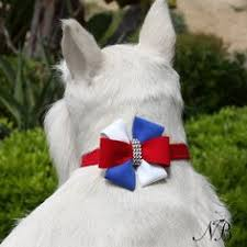 Luxury Dog Collar USA Red White Blue Ultrasuede® Swarovski Crystals®
