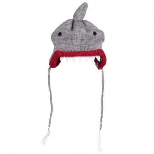 Dog Hat Shark Winter Red Grey