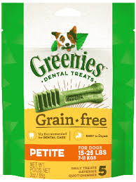 Greenies Grain-Free Petite Dental Dog Treats (3oz/5 treats)