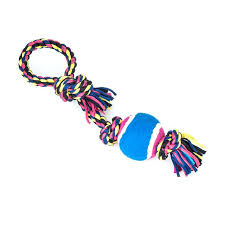 Dog Toy Rope Ball Pink, Blue, Yellow Large