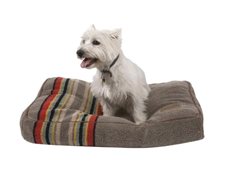 Dog Bed Plush Heather Green Multi-Color