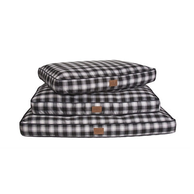 Dog Bed Charcoal Grey Plaid Orthopedic Joint Relief