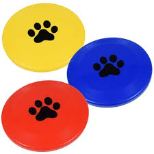 Dog Toy Frisbee Flying Red, Blue, Yellow