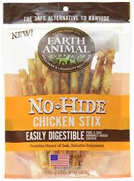 Earth Animal No Hide Chicken Stix Dog Treats, 10 Count Bag