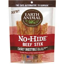 Earth Animal No Hide Beef Stix Dog Treats, 10 Count Bag