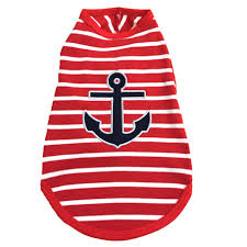 Dog Tank Top Nautical Anchor Red, White, Blue XS-XXL