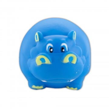 Dog Toy Hippo Squeaker Ball Blue