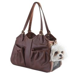 Luxury Designer Dog Carrier Brown Leather and Airline Approved