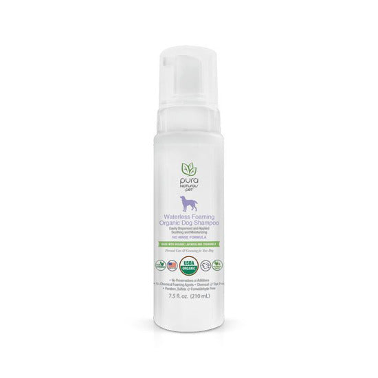 PURE & Natural Waterless Foaming Dog Shampoo Organic 7.5oz