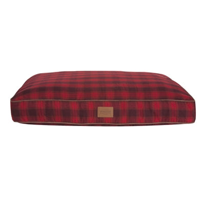 Dog Bed Red Buffalo Plaid Orthopedic Joint Relief