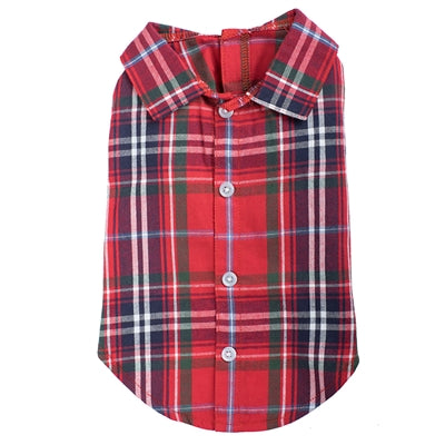 Dog Shirt Red Plaid