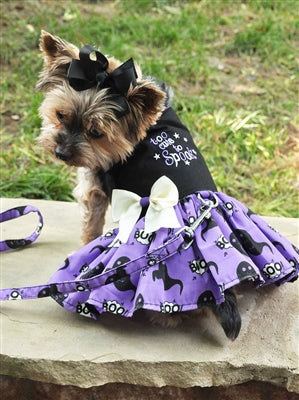 Halloween Dog Harness Dress