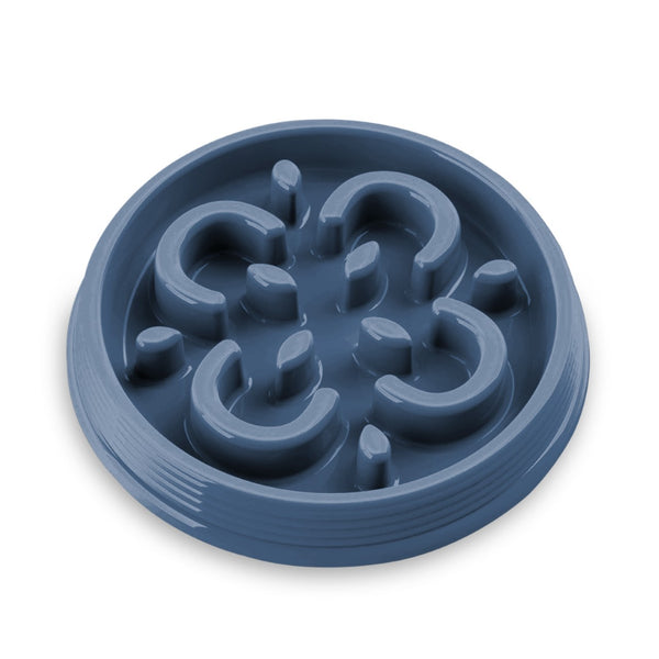 Dog Bowl Slow Chow™ Feeder Indigo Blue by TarHong